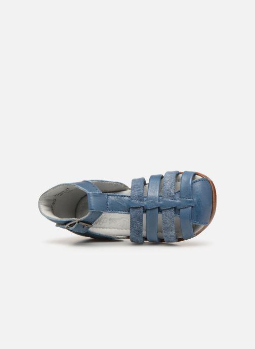 Sandales et nu-pieds Little Mary Delta Bleu vue gauche