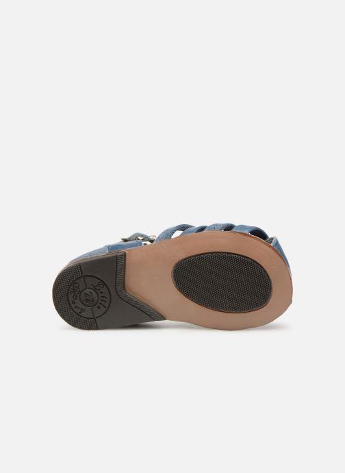 Sandales et nu-pieds Little Mary Delta Bleu vue haut