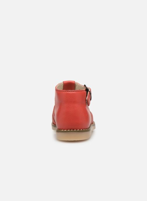 Sandalias Little Mary Joyeux Rojo vista lateral derecha