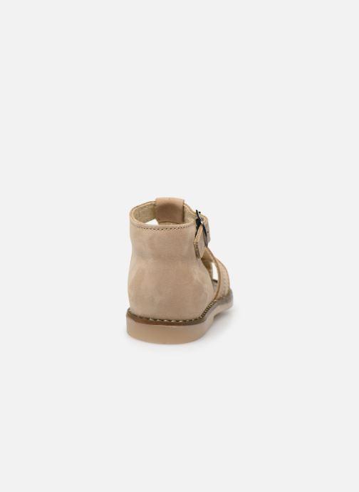 Sandales et nu-pieds Little Mary Joyeux Beige vue droite