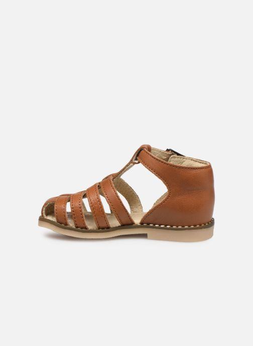 Sandales et nu-pieds Little Mary Joyeux Marron vue face
