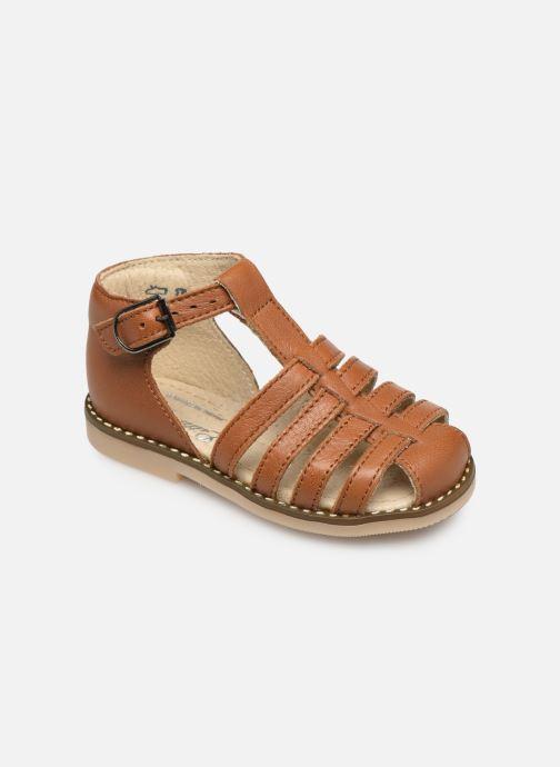 Sandales et nu-pieds Little Mary Joyeux Marron vue détail/paire