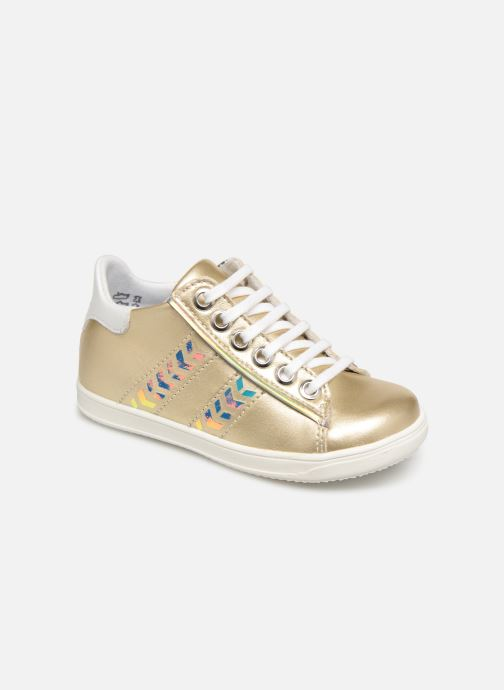 Baskets Little Mary Glitter Or et bronze vue détail/paire