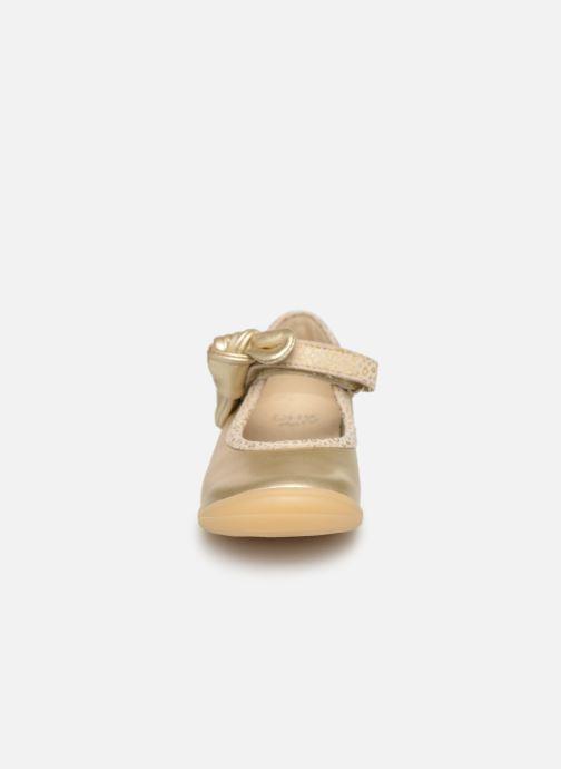Ballerines Little Mary Gertrude Or et bronze vue portées chaussures