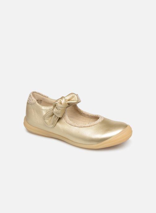 Ballerines Little Mary Gertrude Or et bronze vue détail/paire