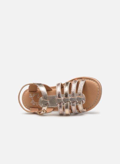 Sandales et nu-pieds Little Mary Barbade Or et bronze vue gauche