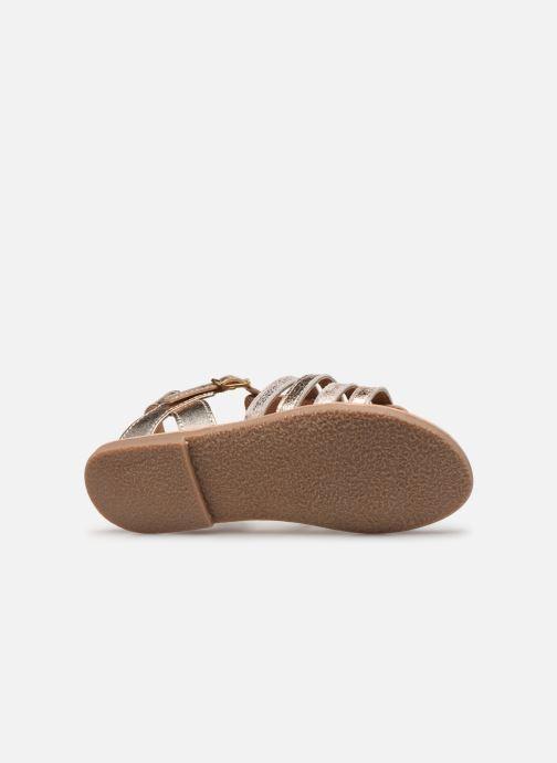 Sandales et nu-pieds Little Mary Barbade Or et bronze vue haut