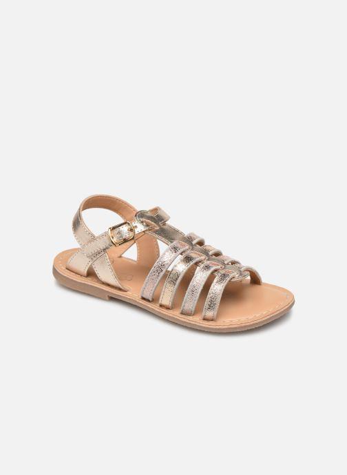 Sandales et nu-pieds Little Mary Barbade Or et bronze vue détail/paire