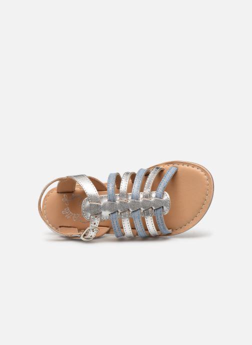 Sandales et nu-pieds Little Mary Barbade Argent vue gauche