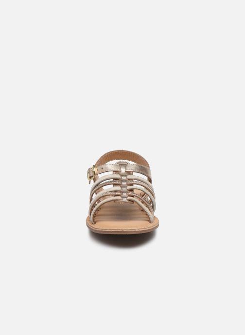 Sandalias Little Mary Barbade Oro y bronce vista del modelo