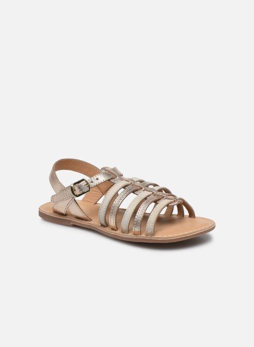 Sandalias Little Mary Barbade Oro y bronce vista de detalle / par
