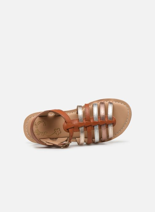 Sandalias Little Mary Barbade Marrón vista lateral izquierda