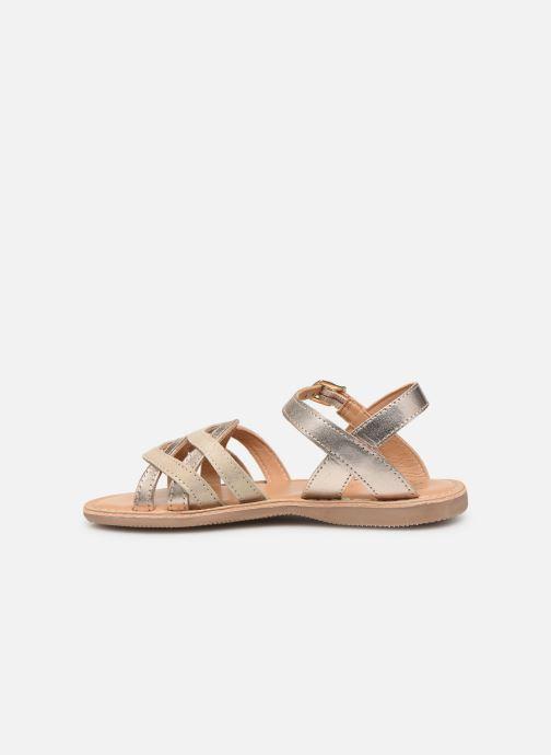 Sandales et nu-pieds Little Mary Grenade Or et bronze vue face