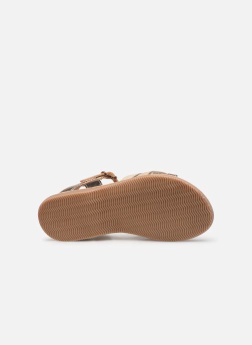Sandales et nu-pieds Little Mary Grenade Or et bronze vue haut