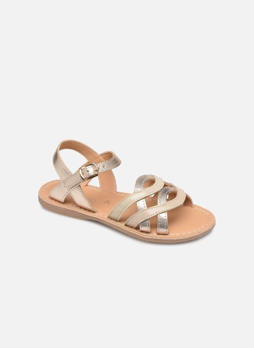 Sandales et nu-pieds Little Mary Grenade Or et bronze vue détail/paire