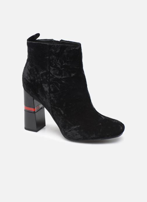 Boots en enkellaarsjes Tommy Hilfiger CRUSHED VELVET HEELED BOOT Zwart detail