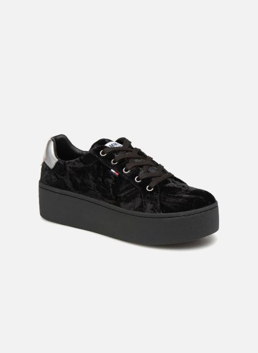 Sneakers Tommy Hilfiger TOMMY JEANS CRUSH VELVET SNEAKER Zwart detail