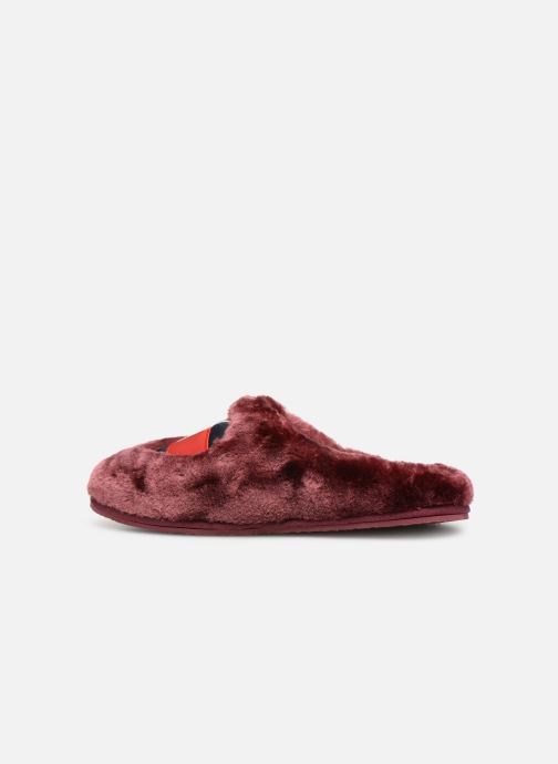 Chaussons Tommy Hilfiger LOVE TOMMY HOME SLIPPER Bordeaux vue face