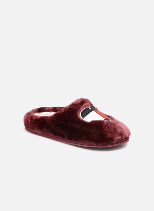 Hjemmesko Tommy Hilfiger LOVE TOMMY HOME SLIPPER Bordeaux detaljeret billede af skoene