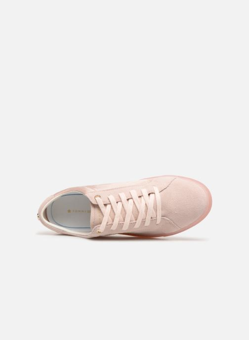 Trainers Tommy Hilfiger SPARKLE SATIN ESSENTIAL SNEAKER White view from the left