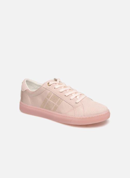 Sneakers Tommy Hilfiger SPARKLE SATIN ESSENTIAL SNEAKER Hvid detaljeret billede af skoene