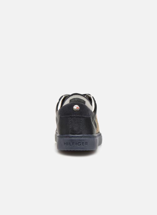 Sneakers Tommy Hilfiger SPARKLE SATIN ESSENTIAL SNEAKER Blå Se fra højre