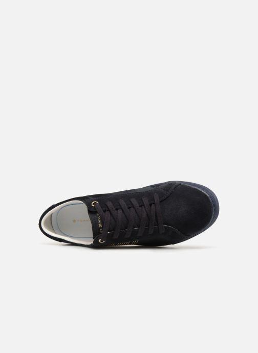 Sneakers Tommy Hilfiger SPARKLE SATIN ESSENTIAL SNEAKER Blå se fra venstre