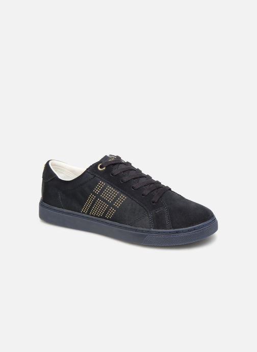 Sneakers Tommy Hilfiger SPARKLE SATIN ESSENTIAL SNEAKER Blå detaljeret billede af skoene