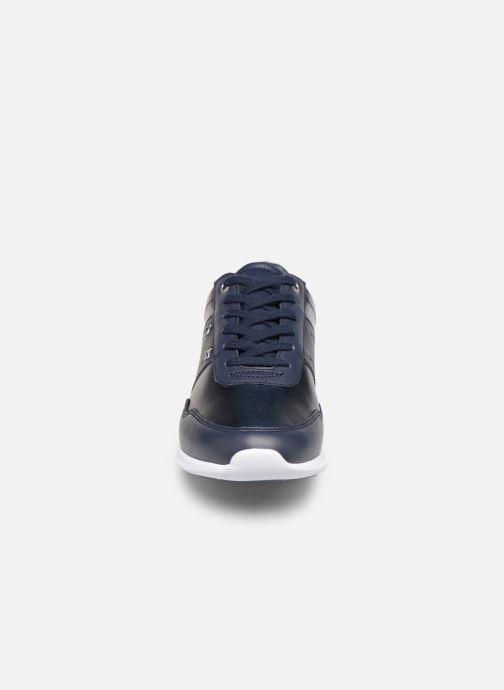 Baskets Tommy Hilfiger TOMMY ESSENTIAL LEATHER SNEAKER Bleu vue portées chaussures