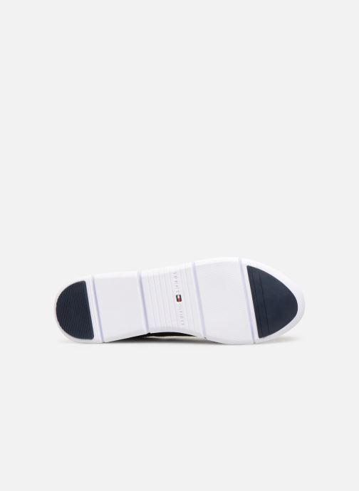 Baskets Tommy Hilfiger TOMMY ESSENTIAL LEATHER SNEAKER Bleu vue haut