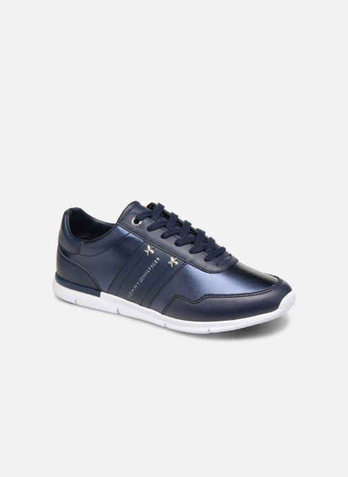 Baskets Tommy Hilfiger TOMMY ESSENTIAL LEATHER SNEAKER Bleu vue détail/paire