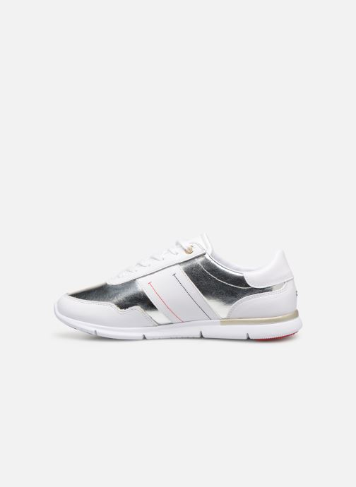 Trainers Tommy Hilfiger TOMMY ESSENTIAL LEATHER SNEAKER Silver front view