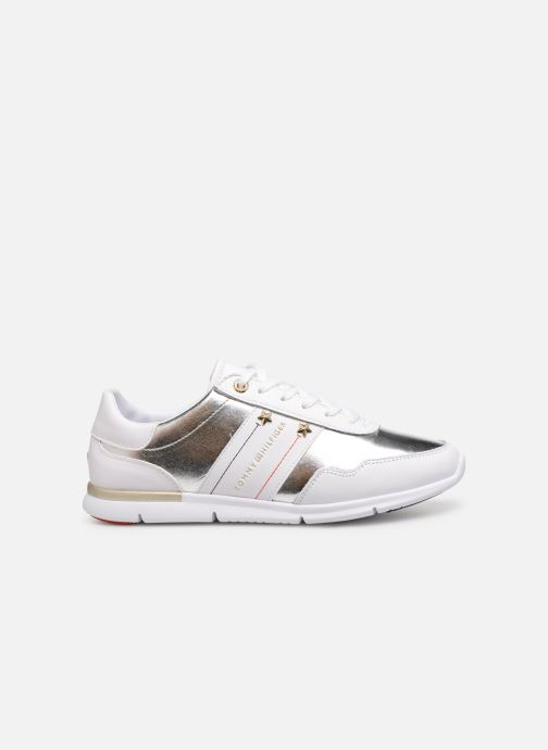 Trainers Tommy Hilfiger TOMMY ESSENTIAL LEATHER SNEAKER Silver back view