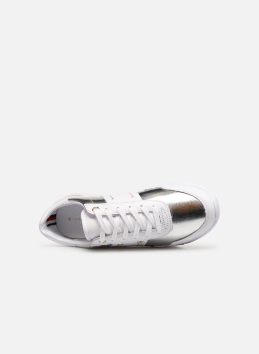 Baskets Tommy Hilfiger TOMMY ESSENTIAL LEATHER SNEAKER Argent vue gauche