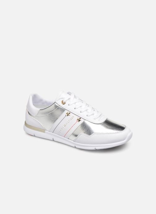 Trainers Tommy Hilfiger TOMMY ESSENTIAL LEATHER SNEAKER Silver detailed view/ Pair view