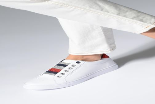 7e8c716957762 Tommy Hilfiger TOMMY ELASTIC ESSENTIAL SNEAKER (Wit) - Sneakers chez ...