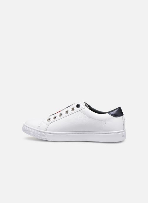 Baskets Tommy Hilfiger TOMMY ELASTIC ESSENTIAL SNEAKER Blanc vue face