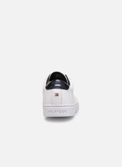 Baskets Tommy Hilfiger TOMMY ELASTIC ESSENTIAL SNEAKER Blanc vue droite