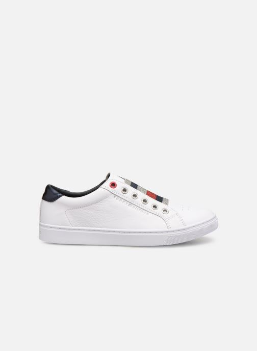 Sneakers Tommy Hilfiger TOMMY ELASTIC ESSENTIAL SNEAKER Wit achterkant