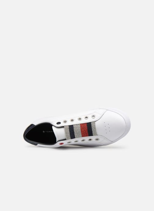 Sneakers Tommy Hilfiger TOMMY ELASTIC ESSENTIAL SNEAKER Wit links
