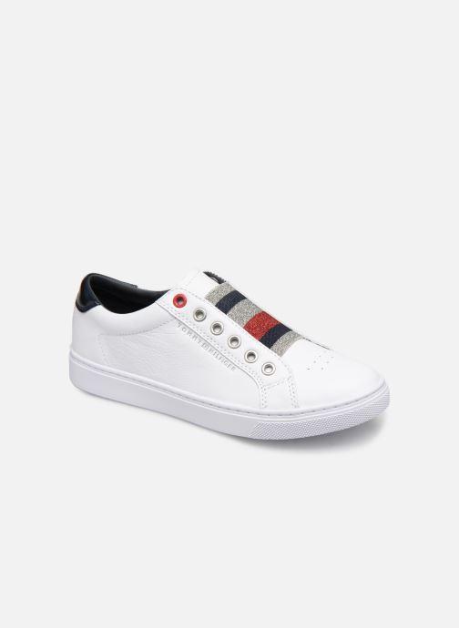 ba62127818c07 Sneakers Tommy Hilfiger TOMMY ELASTIC ESSENTIAL SNEAKER Bianco vedi  dettaglio paio