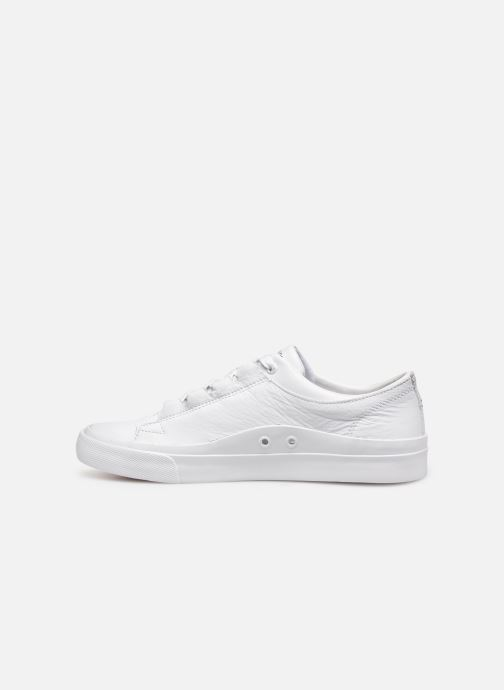 Baskets Tommy Hilfiger CORPORATE LEATHER LOW SNEAKER Blanc vue face