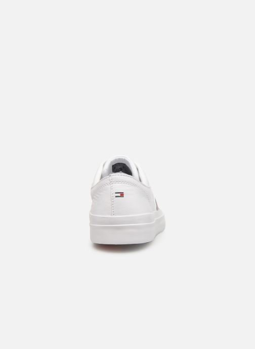 Baskets Tommy Hilfiger CORPORATE LEATHER LOW SNEAKER Blanc vue droite