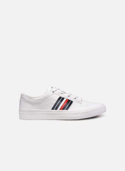 Baskets Tommy Hilfiger CORPORATE LEATHER LOW SNEAKER Blanc vue derrière