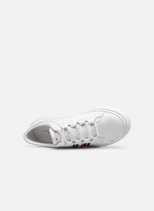 Baskets Tommy Hilfiger CORPORATE LEATHER LOW SNEAKER Blanc vue gauche