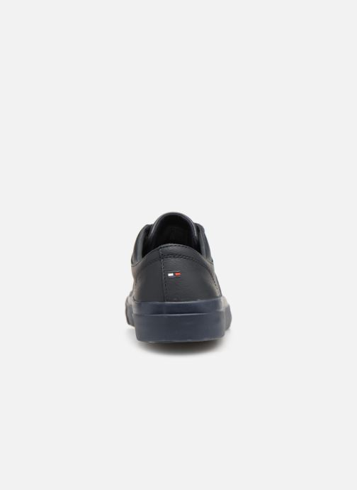 Baskets Tommy Hilfiger CORPORATE LEATHER LOW SNEAKER Bleu vue droite