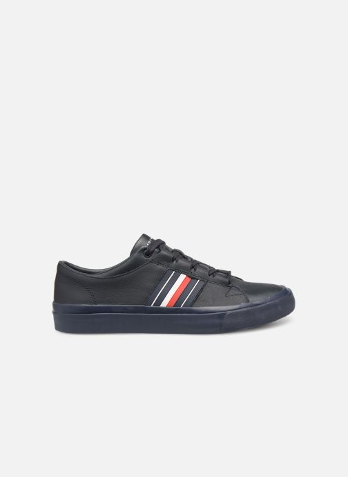 Sneakers Tommy Hilfiger CORPORATE LEATHER LOW SNEAKER Blauw achterkant
