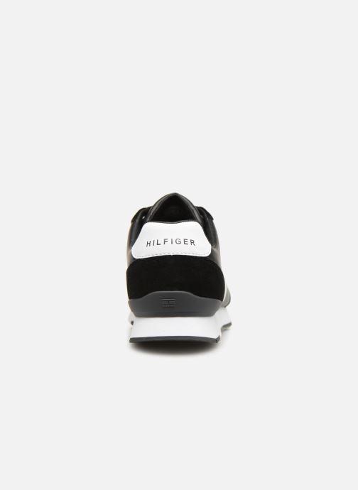 Sneakers Tommy Hilfiger LEATHER MATERIAL MIX RUNNER Zwart rechts