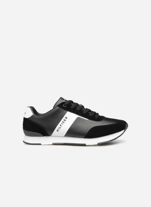 Sneakers Tommy Hilfiger LEATHER MATERIAL MIX RUNNER Zwart achterkant