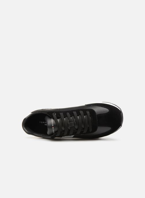 Sneakers Tommy Hilfiger LEATHER MATERIAL MIX RUNNER Zwart links